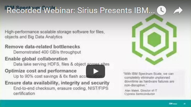 Webinar IBM Spectrum Storage