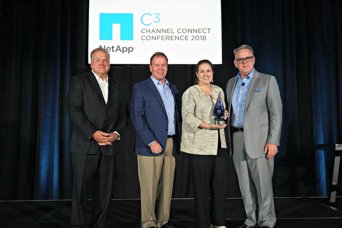 Sirius receives 2018 NetApp Central Partner of the Year Award at the Channel Connect Conference