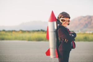 boy with rocket