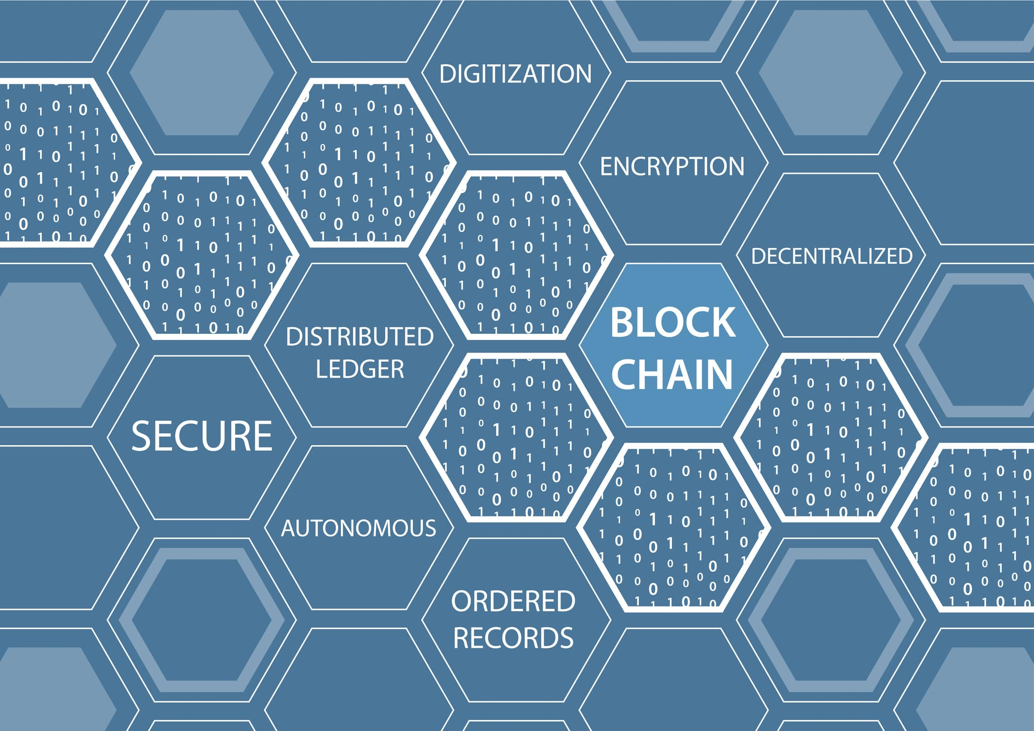 vector illustration of blockchain