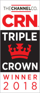 2018 Channel Co Triple Crown Award logo for Sirius Computer Solutions