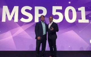 David Carlson and Mike Conley accepts MSP award for Sirius
