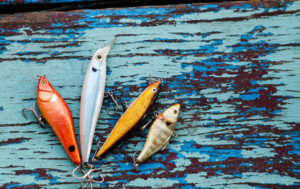 Illustrative image of fishing lures. Deception technology is a lure for cybercriminals.
