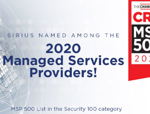 Sirius Named to CRN's 2020 MSP 500 List in the Security Category