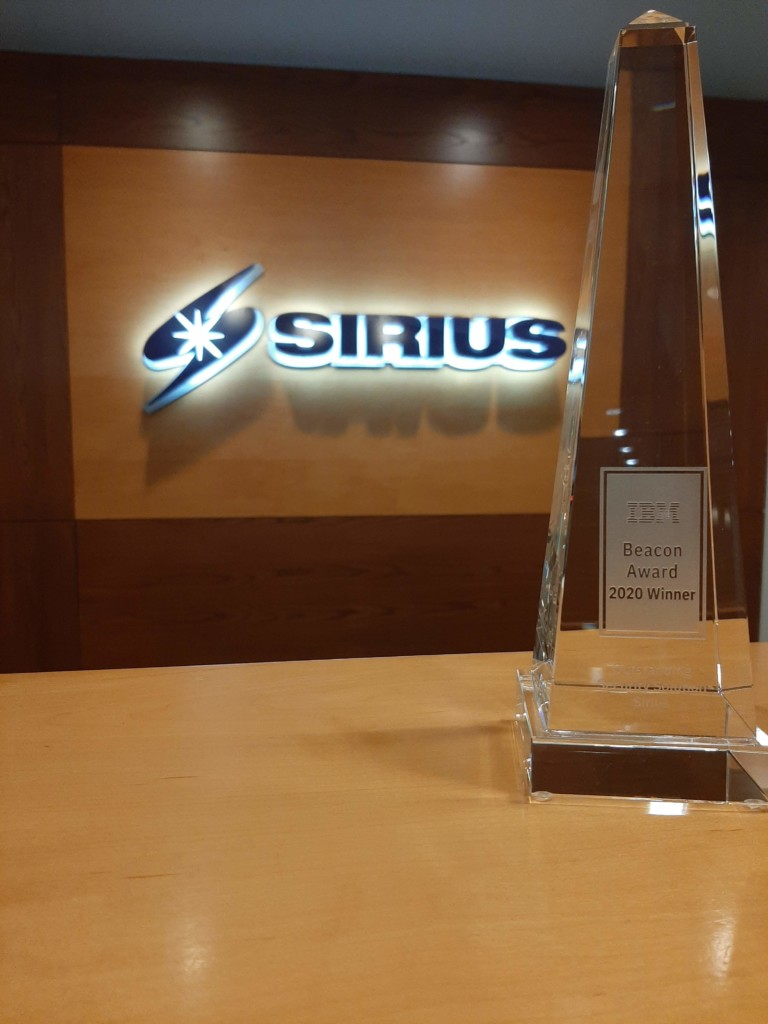 2020 IBM Think Beacon Award Winner Sirius