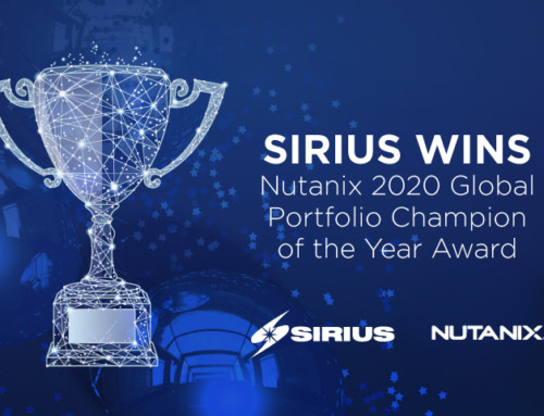 Sirius Awarded the 2020 Global Portfolio Champion of the Year Award at Nutanix .NEXT Digital Experience