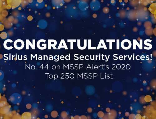 Sirius Breaks Top 50 on MSSP Alert's Top 250 MSSPs List for 2020