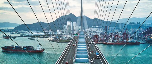 hyperconverged infrastructure illustration as a bridge