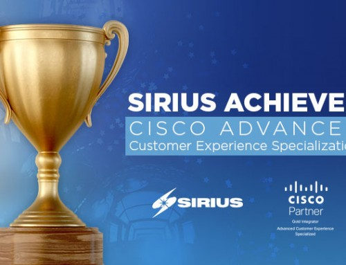 Sirius Earns Advanced Customer Experience Specialization from Cisco