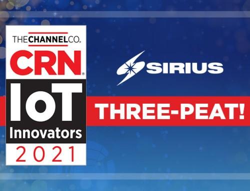 Sirius Earns the 2021 CRN IoT Innovators Award
